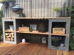 Barbacoa Jardin, Outdoor Shelves, Bbq Area, Modern Shelving, Outdoor Projects, Garden Inspiration, Outdoor Gardens, Outdoor Living, Pergola