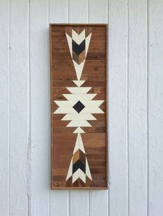 Wood Wall Art Reclaimed Wood Wall Decor Lath Art by PastReclaimed