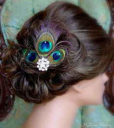 Peacock Headpiece Peacock hair clip with by MyDreamWedding on Etsy, $44.99