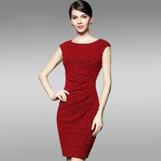 Check the details and price of this Red Bateau Neck Cap Sleeve Floral Sheath Midi Dress (Red, GYALWANA) and buy it online. VIPme.com offers high-quality Sheath Dresses at affordable price.