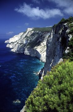 Zakynthos rocky shore taken from the road that leading to Vromi Horbur - Greece Places To See, Places To Travel, The Places Youll Go, Travel Destinations, Beautiful World, Beautiful Places, Beautiful Scenery, Places Around The World, Around The Worlds