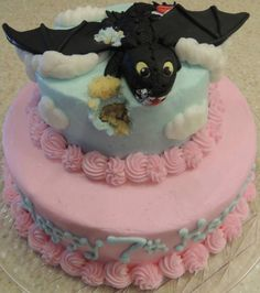 Toothless (how to train your dragon) cake