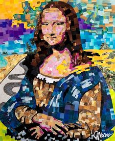 Mona Lisa Collage - by Anderson Thives