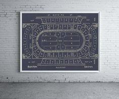Vintage BOSTON ARENA Boston Bruins Ice Hockey by ClavinInc on Etsy