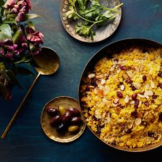 Saffron Quinoa with Dried Cherries and Almonds / Photo by Chelsea Kyle, Prop Styling by Alex Brannian, Food Styling by Anna Hampton Best Quinoa Recipes, Healthy Recipes, Almond Recipes, Iranian Dishes, Everyday Dishes, Passover Recipes, Dried Cherries, Dried Fruit, Pasta