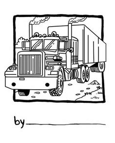 18 Wheeler Truck Coloring Pages Sketch Template