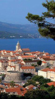 Korcula, Croatia. Korčula is an island in the Adriatic Sea, in the Dubrovnik-Neretva County of Croatia. The island lies just off the Dalmatian coast.