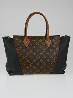 Louis Vuitton Black Monogram Canvas W PM Bag