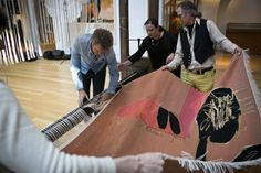 Magne Furuholmen Glass Onion centrepiece to 2015 exhibition | Dovecot Studios
