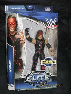 Kane Mattel WWE Elite Collection Series 31-NIB VHTF (w/ removable mask) #Mattel