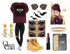 """Queen Cara"" by angelique010 ❤ liked on Polyvore featuring Belleza, Timberland, NARS Cosmetics, Pull&Bear, Chanel, Christian Dior, Dolce&Gabbana y Yves Saint Laurent"