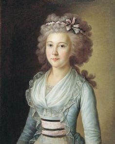 Retrato da filha do artista por Ermolay Kamezhenkov, 1790 (início?) Rússia, Rybinsk-Museu Preserve