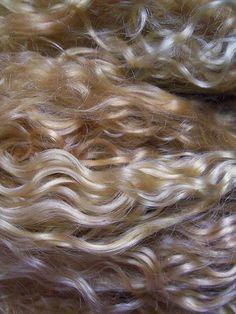 Mohair Golden Blond Doll Hair by DarkForestFolkarts on Etsy, $22.00