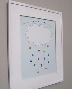 Nice kids art....cloud, raindrops and saying