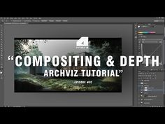 Post Production Tutorial - Compositing and Depth - Archviz 3d Architectural Visualization, Architecture Visualization, Rendering Architecture, Architecture Diagrams, Architectural Models, Architecture Portfolio, Architectural Drawings, Photoshop Rendering, Photoshop Design