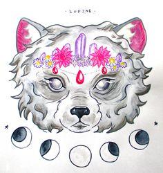 Lupine illustration by arkolina