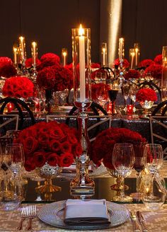 Love the rose centerpieces PERFECT!!