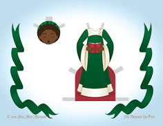 Paper Doll School: December Angel Paper Doll - Day 4