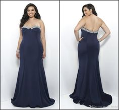 Plus Size Special Occasions Dresses 2017 New Arrival Navy Blue Color Chiffon Long Sweetheart Sexy Backless Crystal Beaded Simple Prom Dress Dress For Plus Size Dresses Cocktail From Molly_bridal, $98.1| Dhgate.Com