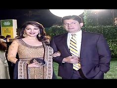 Madhuri Dixit with husband at Ronnie Screwvala's daughter's wedding ceremony.