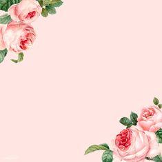 Hand drawn pink roses frame on pastel pink background vector free image by rawpixel com / busbus Rose frame Vector free Flower illustration