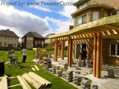 Choose the deck design appropriate for your space. #Deck design #custom deck #interlocking #patio #landscaping #Toronto