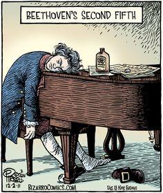BEETHOVEN'S SECOND FIFTH - Bizarro Toon by Dan Piraro