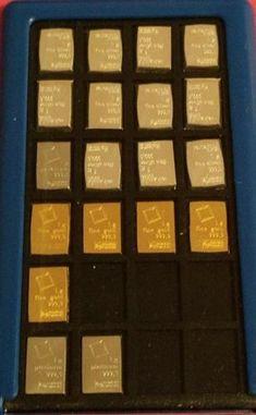 Element Card Holds 24 Valcambi 1 gram bars (gold, silver, palladium, platinum)