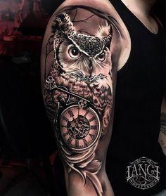 Tattoo g tattoo, chest tattoo, body art tattoos, key tatto Owl Tattoo Design, Tattoo Sleeve Designs, Tattoo Designs Men, Sleeve Tattoos, Cool Shoulder Tattoos, Mens Shoulder Tattoo, Shoulder Tattoos For Women, Owl Tattoo Drawings, G Tattoo