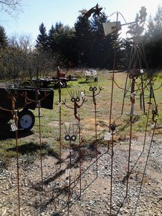 SEA OF C-CLAMPS-recycle, repurpose, rethink, reuse, upcycle-garden metal fun www.goldncountrygifts.com & https://www.facebook.com/weluv2cre8