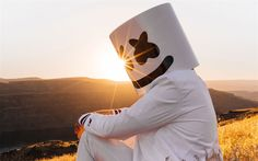 Download wallpapers Marshmello, musician, sunset, DJ, superstars, DJ Marshmello