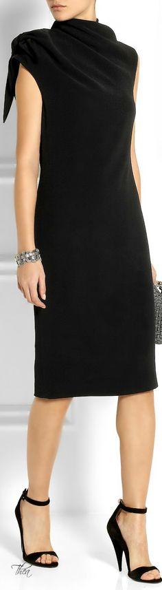 My little black dress by Bottega Veneta ● Knotted crepe dress