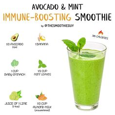 This healthy and creamy immune-boosting is packed with vitamins and antioxidants to help keep colds at. For see more of fitness life images visit us on our website ! Easy Smoothie Recipes, Easy Smoothies, Weight Loss Smoothies, Healthy Tacos, Healthy Drinks, Healthy Tilapia, Healthy Chicken, Healthy Cooking, Juice Smoothie