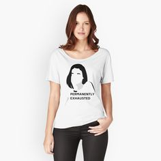 Buy 'Permanently Exhausted T-shirt :)' by NoreenMaphumulo as a Fitted Scoop T-Shirt, Fitted V-Neck T-Shirt, Relaxed Fit T-Shirt, or Premium Scoop T-Shirt Walter White, Loose Fit, Yoga Zen, T Shirt Citations, Revolution, Purple Camo, Shops, Best Friends Forever, Shirts With Sayings