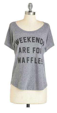 Weekends are for waffles!