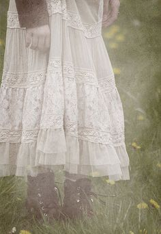 flowy skirt with boots :)