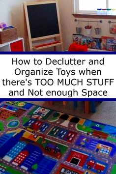 How to Declutter and Organize Toys when there's TOO MUCH STUFF and Not enough Space