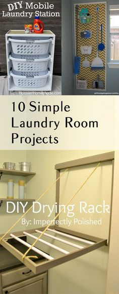 Simple and easy DIY laundry room projects.