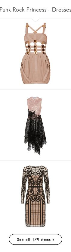 """""""Punk Rock Princess - Dresses"""" by metalheavy ❤ liked on Polyvore featuring dresses, vestidos, short dresses, cocktail dresses, bodycon dress, body con dress, nude dress, bandage dress, short bodycon dresses and a line dress"""