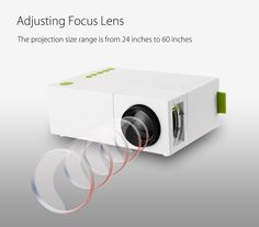 Fosa Mini Projector Portable LED Projector for iPhone Android Smartphone HDMI Devices Home Cinema Theater Great Gift Pocket Video Projector for Party Game and Outside Camping, Best Home Theater Projector, Home Theater Speakers, Home Theater Projectors, Lcd Projector, Portable Projector, Portable House, Home Cinemas, High Fashion Home, Luz Led