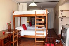 Up to 4 adults can share the self-catering apartment. Pretoria, Breath In Breath Out, Bunk Beds, Catering, Furniture, Home Decor, Decoration Home, Loft Beds, Catering Business