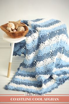 Bring the coast to you by crocheting this lacy and airy design. It's the perfe… Bring the coast to you by crocheting this lacy and airy design. It's the perfect afghan for the summer months to bring some cool into the hom Crochet Afghans, Baby Blanket Crochet, Crochet Stitches, Crochet Baby, Crochet Blankets, Baby Afghans, Baby Blankets, Crochet Crafts, Crochet Projects