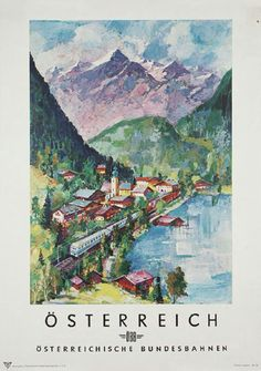 Buy online, view images and see past prices for Travel Poster Austrian Railways Ski Mountains. Train Posters, Railway Posters, Vintage Ski Posters, Ski Mountain, Tourism Poster, Central Europe, Pretty Pictures, Places To Travel, Skiing