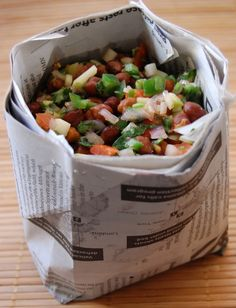 Streetside Kala Chana Chaat from Indian Appetizers, Indian Snacks, Indian Food Recipes, Indian Salads, Veggie Appetizers, Healthy Recipes, Cooking Recipes, Vegetarian Recipes, Indian Food Vegetarian