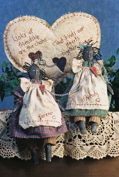 Cloth Doll Pattern  Primitive Friendship Doll by FruitfullHands, $6.00