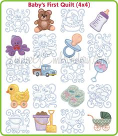 machine embroidery baby quilt designs