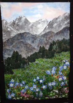 Quilts by JVC ..||.. PATTERNS - Alpine Flowers Close-ups Beautiful quilt, plus instructions