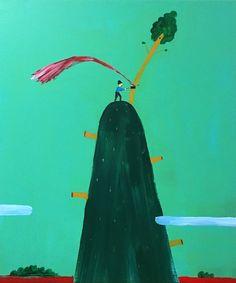 Zen Tainaka, The Woodcutter, acrylic on canvas, 91x72.7x2.5cm, 2016