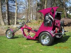 Old Classic Harley-Davidson Motorcycles Harley Panhead, Harley Davidson Knucklehead, Harley Davidson Motorcycles, Pink Motorcycle, Cruiser Motorcycle, Motorcycle Rides, Custom Trikes, Custom Cars, Vw Trike