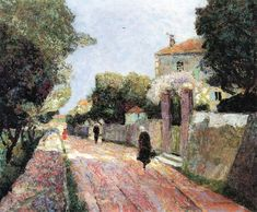 The Athenaeum - Village Street in the Sunlight (Victor Charreton - )
